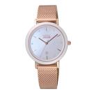 NATURALLY JOJO 輕奢極簡時尚腕錶-玫瑰金X粉