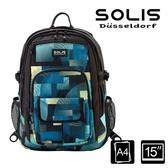 【南紡購物中心】SOLIS【馬戲團系列】昇華款後背包 (嬉戲藍)