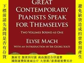 二手書博民逛書店Great罕見Contemporary Pianists Speak For ThemselvesY25626