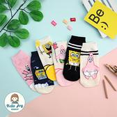 【正韓直送】韓國襪子 睡衣趴踢海綿寶寶短襪 船型襪 女襪 生日禮物 韓妞必備 哈囉喬伊 B17
