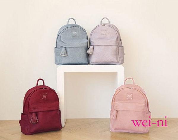wei-ni 氣質WeekEight潮女流行包 高品質設計時尚高雅 女用雙肩小包包 可放IPAD或平板