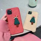 蘋果 iPhone11 Pro Max XR iPhoneXS Max iPhone7 iPhone8 蝴蝶結聖誕樹 手機殼 毛絨 保護殼