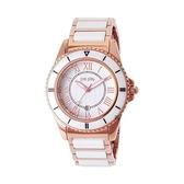 【Folli Follie】CERAMICA 甜美氣質陶瓷腕錶-玫金白/WF6R069BDS_XX/台灣總代理公司貨享兩年保固