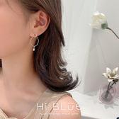 耳環68255#925銀針韓國東大門新款簡約氣質圈圈耳環時尚鑲鉆珍珠耳墜GDB507快時尚