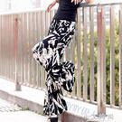 冰絲寬管褲高腰褲子顯瘦碎花棉麻長款裙褲休閒大碼沙灘褲 小艾時尚