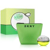 DKNY 青蘋果淡香精禮盒組(淡香精30ml+化妝包)【ZZshopping購物網】