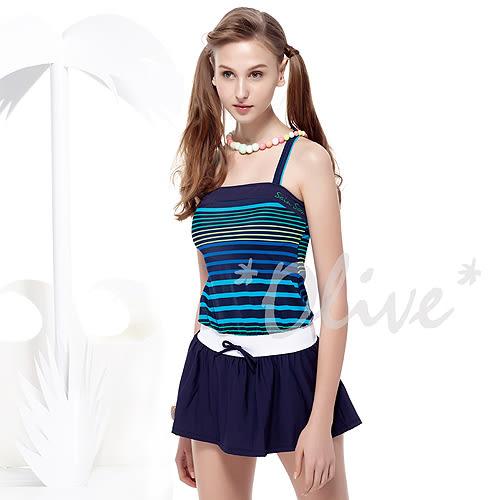 ☆小薇的店☆MIT聖手品牌【顯瘦條紋風格】時尚二件式連身裙泳裝特價790元 NO.A82413(S-L)