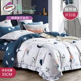 【R.Q.POLO 】使用3M吸濕排汗專利-夢中樂園 天絲兩用被床包四件組