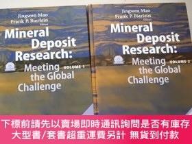 二手書博民逛書店mineral罕見deposit research:meeting the global challenge【vo