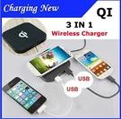 qi 無線充電板 雙 usb port輸出 + 無線充電 S6 edge S7 NOTE5 920 G4
