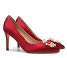 新款伴娘新娘結婚鞋女尖頭