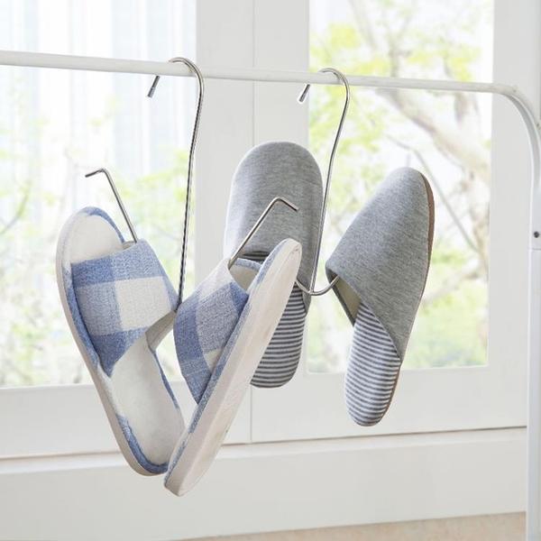 [超豐國際]不銹鋼防風晾鞋架陽臺晾曬架室外鞋子掛鉤鞋架晾曬架曬鞋架
