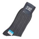 PLAYBOY直紋透氣涼感紳士襪(深灰色)980122