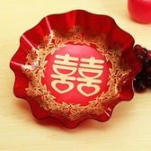 婚慶用品紅色果盤喜慶布置水果糖果盤托盤