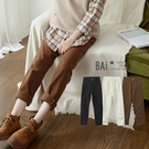 男友褲 刷毛款!繭型高腰單釦微彈性斜紋褲M-L號-BAi白媽媽【302109】