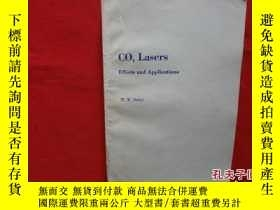 二手書博民逛書店CO2罕見Lasers Effects and Applicat