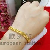 手鍊/飾品馬鞭手鏈男女鍍金情侶「歐洲站」