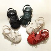 女童鞋子 女童涼鞋小公主韓版寶寶軟底兒童包頭涼鞋蝴蝶 珍妮寶貝