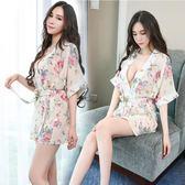 情趣睡衣 高檔情趣內衣性感睡衣透明衣服浴袍和服制服女式套裝短裙SM睡裙