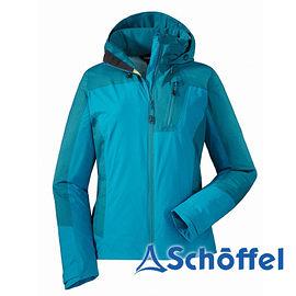 德國 SCHOFFEL 女 防水透氣 多功能連帽外套 水藍 2011072