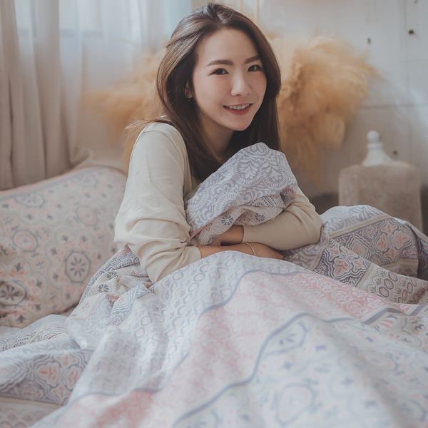 青花瓷 D1雙人床包三件組 100%精梳棉 台灣製 棉床本舖