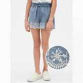 Gap女童甜美刺繡設計休閒短褲540070-牛仔色