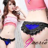特價-情趣用品 性感睡衣-三角褲 Gaoria  醉入花叢 蕾絲性感三角內褲 藍