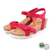 【Panama Jack】蛇紋楔形女涼鞋 紅色 (PSW47-RED)