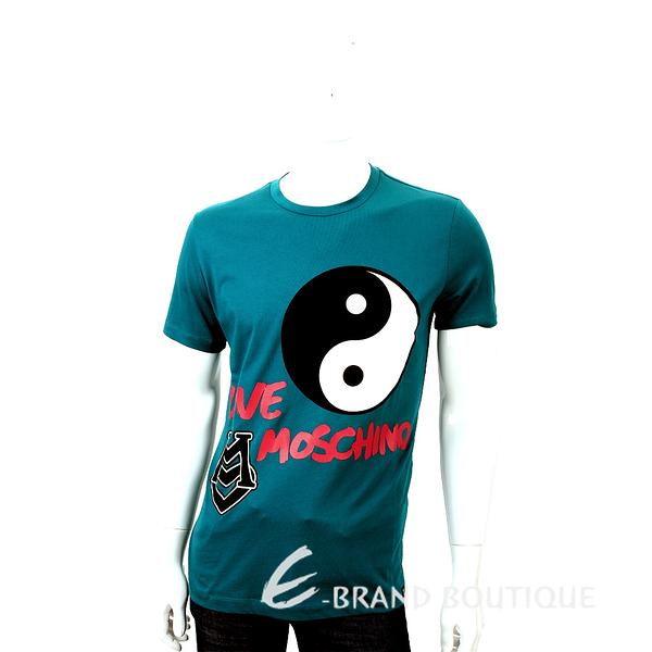 LOVE MOSCHINO T-SHIRT 太極圖印短袖上衣(藍綠色) 1530324-16