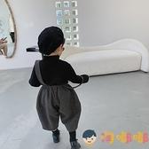 兒童毛呢燈籠褲加厚背帶褲男女童九分褲吊帶褲子潮【淘嘟嘟】