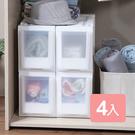 特惠-《真心良品x樹德》三比八隙縫單抽收納櫃(附輪)-4入組