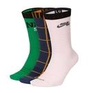 Y- NIKE SB 中筒 高筒 襪子 運動長襪 3雙入 男女 深藍 粉紅色 綠色 休閒襪 CQ9360-902