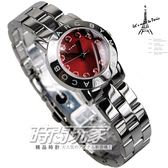 MARC JACOBS MJ 紅色晶鑽 MARC品牌時刻 紅色面 26mm 女錶 MBM3335 全鋼亮面處理
