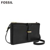 FOSSIL GINA 皮夾側揹兩用包-黑色 SLG1289001