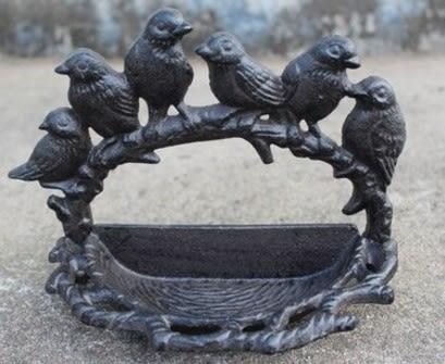 協貿國際六鳥造型擺件煙缸鑰匙盒家居庭院裝飾品1入