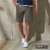 【JEEP】美式輕時尚素面休閒短褲 灰色 (合身版)