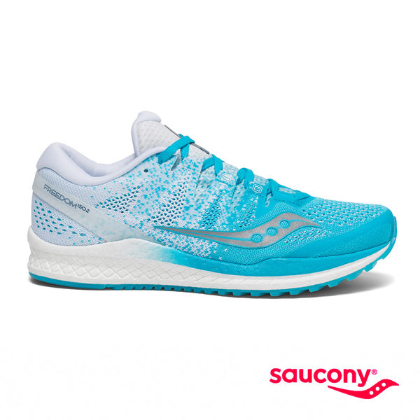 SAUCONY FREEDOM ISO 2 專業訓練女鞋-冰藍x白