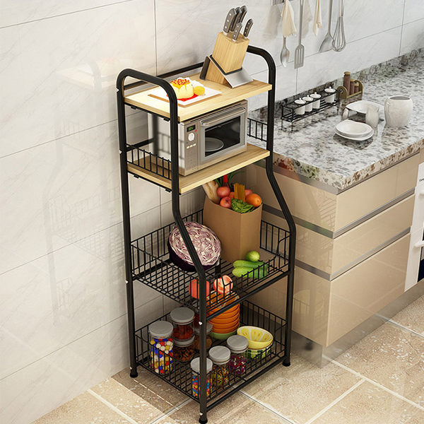 多層收納架 廚房落地置物架 微波爐置物架 儲物架 廚房收納架《生活美學》