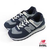 New balance 574 藍色 麂皮 休閒運動鞋 男女款.NO.B1057【新竹皇家 ML574SPI】