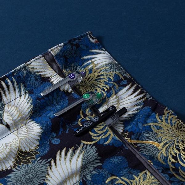 日系復古中國風燙金帆布藝筆簾男女生簡約大容量大中小學生捲筆袋 黛尼時尚精品