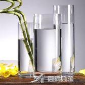特大號花瓶玻璃透明高60cm插花銀柳富貴竹50厘米圓柱直筒落地大號  樂芙美鞋