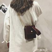 上新錬條漆皮小包包女夏天新款手拎迷你手機包單肩斜背小方包      芊惠衣屋