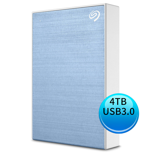 (2019新款) Seagate Backup Plus Portable 4TB USB3.0 2.5吋 外接硬碟 冰川藍 STHP4000402