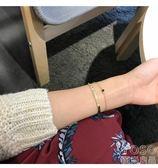 手? 日韓國氣質百搭簡約雙層彎管手?手鐲首飾品生日禮物配飾女  『優尚良品』