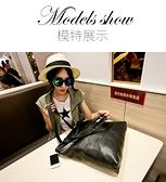 側背包系列 韓版潮簡約百搭女包純色pu皮包購物袋豎款單肩側背包黑色大包包 快意購物網
