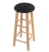 吧檯椅 實木奶茶店酒吧臺椅簡約手機店桌椅子北歐現代酒吧高腳家用高凳子【快速出貨八折搶購】
