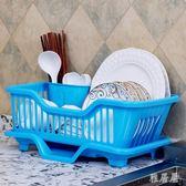 廚房瀝水放碗筷收納帶蓋水槽置物架大號塑料碗柜mj4764【雅居屋】TW