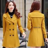大衣外套 小矮個子風衣女春秋新款外套中長款韓版外套 萬客居