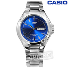 CASIO / MTP-1228D-2A / 卡西歐十年電力日期星期防水不鏽鋼手錶 藍色 38mm