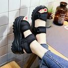 厚底涼鞋厚底涼鞋女士百搭增高搖搖鞋高跟鞋鬆糕鞋小碼   傑克型男館